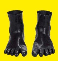 Latex-ZEH-Socken mit einzelnen Zehen
