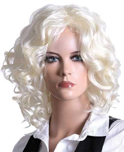 Perücke Blondy, gelockt, hellblond