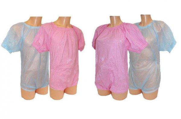 PVC-Strampelanzug, blau oder rosa,