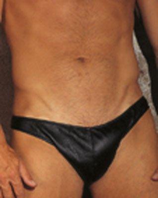 Leder-Slip mit offener Rückseite