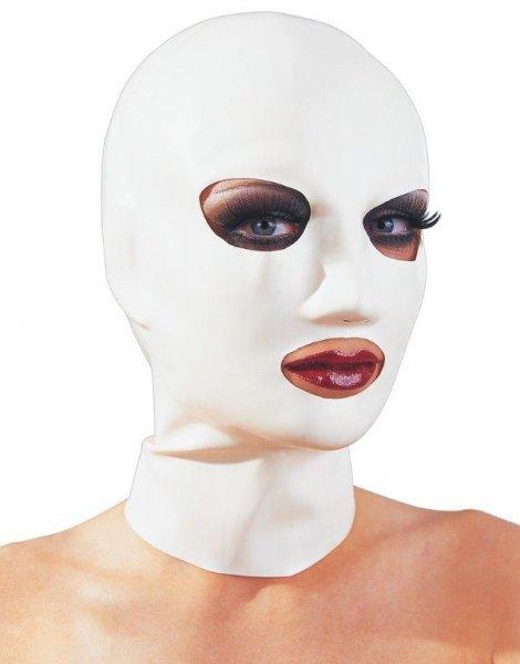 Latex-Maske weiß für Sie & Ihn