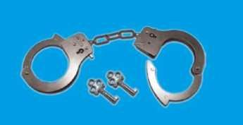 Police-Metall-Handschellen