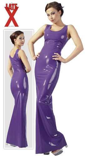 Latex-Partykleid Farbe transparent