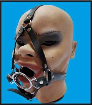 BDMS-Knebel-Geschirr mit Zwangs-Mundöffnung