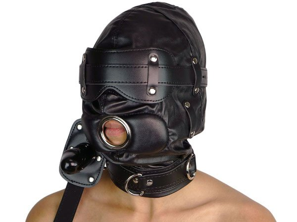 Leder-Sklaven-Maske