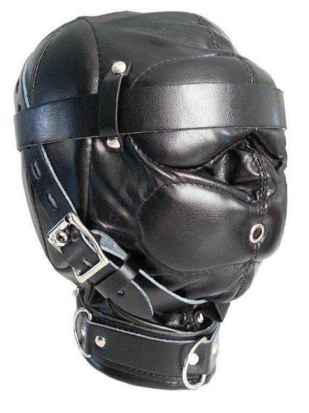 Sklaven-Bondage-Maske, mehrfach abschließbar