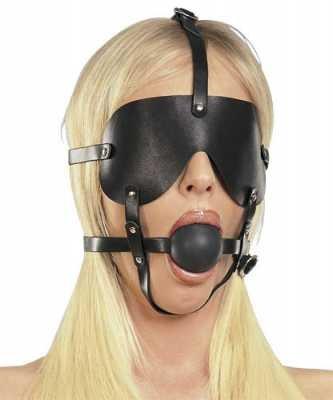 Kopfgeschirr mit Maske und Knebel