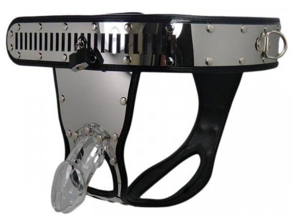Keuschheitsgürtel mit Peniskäfig, Taille 85-120cm