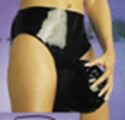 Damen Latex-Slip mit Kopfmaske