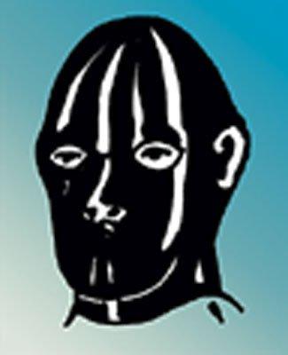 Anatomische Maske mit Augen- u. Nasenöffnung