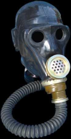 Latex Totenkopf-Gasmaske