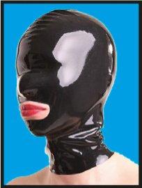 Latex-Maske mit Mundöffnung