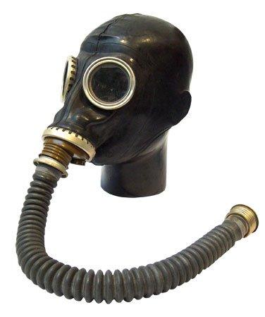 Latex-Fetisch-Gasmaske