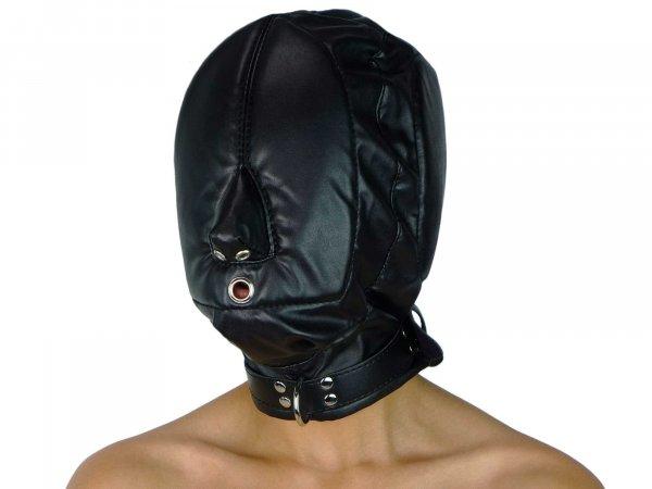 Leder-Sklaven-Maske (Imitat)