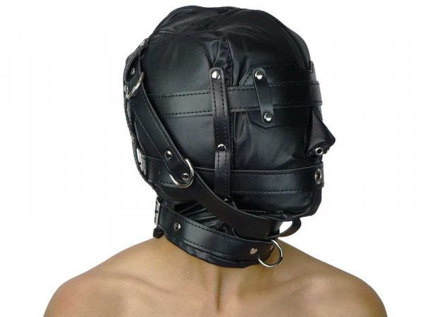 Leder-Isolations-Maske (Imitat)