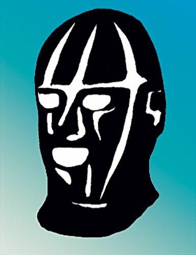 Latex Kopfmaske mit Augen, Nase und Mundöffnung