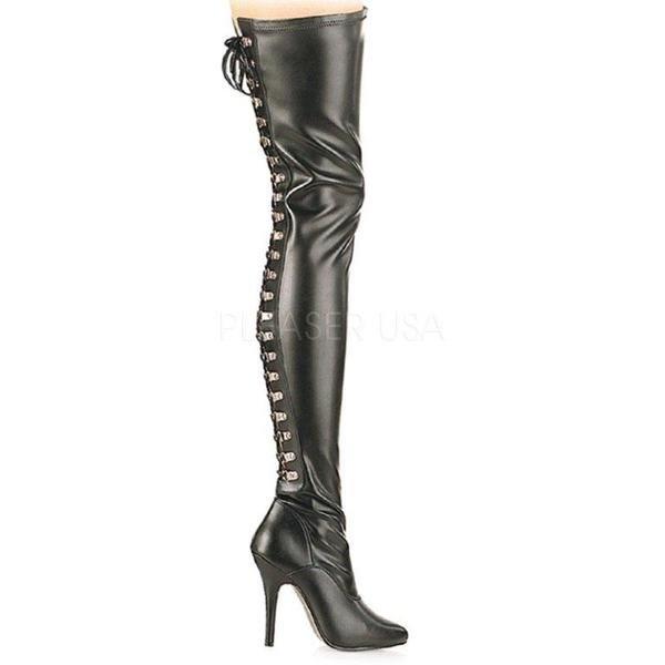 Leder Overknee-Stiefel (Imitat) A=12,7 cm